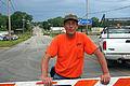 FEMA - 35688 - Public Works employee at a barricade in Iowa.jpg
