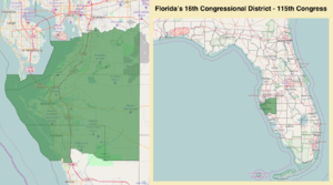 Florida's 16th congressional district - Florida's 16th congressional district - since January 3, 2017
