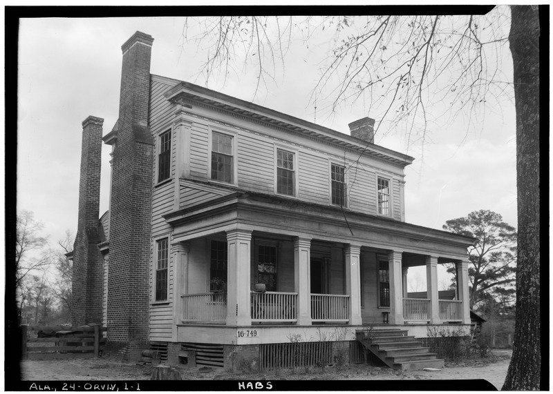 File:FRONT ELEVATION. - Bland House, County Road 11 vicinity, Orrville, Dallas County, AL HABS ALA,24-ORVI.V,1-1.tif