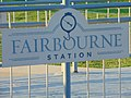 Fairbourne Station sign, West Valley City, Utah, Aug 16.jpg