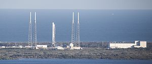 Cape Canaveral Air Force Station Space Launch Complex 40 - LC 40 with SpaceX Falcon 9 launch infrastructure, February 2015