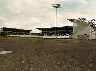 Falkirk Stadium - The three stands of the stadium