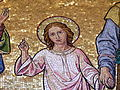 Familienkirche - Fassade - Mosaik Heilige Familie - Christus.jpg