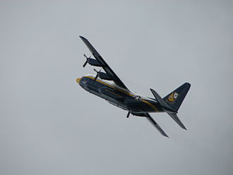 Cleveland National Air Show - The Blue Angels' support plane is a Lockheed C-130 Hercules transport, nicknamed Fat Albert.