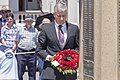 Federal Member for Riverina Michael McCormack laying the wreath at the Centenary of the Kangaroo March commemoration ceremony.jpg