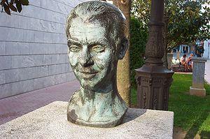 Concurso de Cante Jondo - Bust of García Lorca (1898-1936).