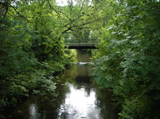 Ferndorfbach river in Germany