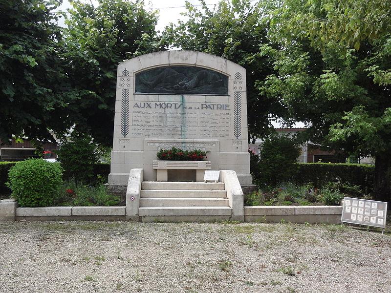 Fieulaine (Aisne) monument aux morts