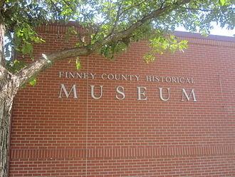 Finney County, Kansas - Finney County Historical Museum in Garden City is located in Finnup Park.