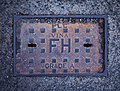 Fire hydrant cover, Bangor - geograph.org.uk - 2342945.jpg