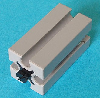 Fischertechnik - 15×15×30 mm (plus peg) standard block in original gray color