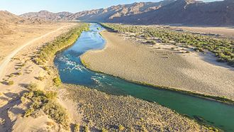 Fish River (Namibia) - The Fish River in August during winter.