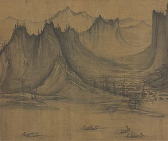1040s in art - Xu Daoning, Fishermen's Evening Song