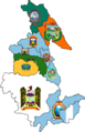 Flag map of provinces of Ayacucho.png