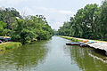 Fletcher's boathouse, looking down 4 mile level of Georgetown on Chesapeake and Ohio Canal.jpg