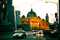 Flinders Street, Melbourne at dawn.jpg