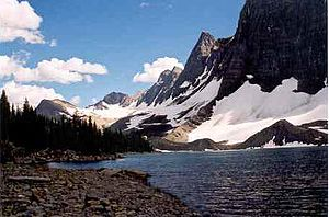 Kootenay National Park - Floe Lake taken from the Floe Lake backcountry campground – July 2004