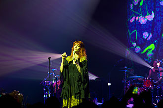 Florence and the Machine - Lead singer Welch performing in Singapore in 2010