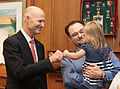 Florida Governor Rick Scott welcomes the 2016 Down Syndrome Awareness Week with fist-bumps for Kennedi Beahn and Xavier Robinson 01.jpg