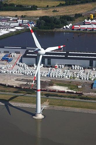 Enercon - Image: Flug Emden 2010 021