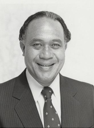 American Samoa's at-large congressional district - Image: Fofó Iosefa Fiti Sunia 99th Congress 1985