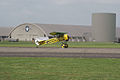 Fokker D.VIII Lt See Gotthard Sachsenberg Taxi Out 02 Dawn Patrol NMUSAF 26Sept09 (14597969124).jpg