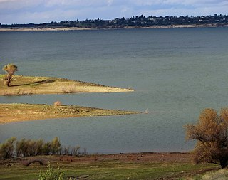 Folsom Lake Reservoir on the American River in the Sacramento metropolitan area