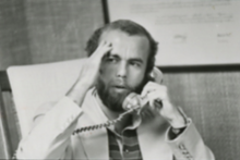 David Hume Kennerly on a telephone call in June 1975.
