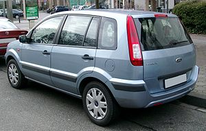 Ford Fusion (Europe) - Image: Ford Fusion rear 20080222