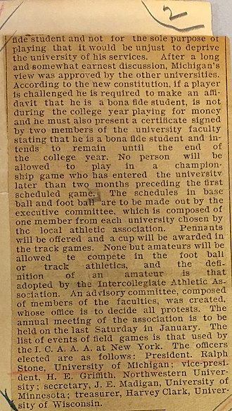 Intercollegiate Athletic Association of the Northwest - Image: Formation of Intercollegiate Athletic Association of the Northwest part 2