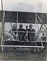 Former President Theodore Roosevelt and pilot Arch Hoxsey preparing for take-off for Roosevelt's first airplane ride. International Aviation Meet, Kinloch Field. 11 October 1910.jpg