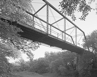 National Register of Historic Places listings in Shackelford County, Texas - Image: Fort Griffin Iron Truss Bridge, Spanning Clear Fork of Brazos River at County Rout, Fort Griffin vicinity (Shackelford County, Texas)