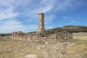 Fort Lancaster - Ruins of Company K Enlisted Men's Barracks at Fort Lancaster, c. 1857