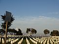 Fort Rosecrans National Cemetery facing San Diego metro.JPG