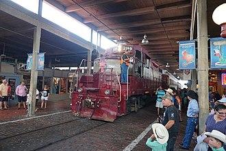 "Grapevine Vintage Railroad - The ""Vinny"" locomotive at the Stockyards"