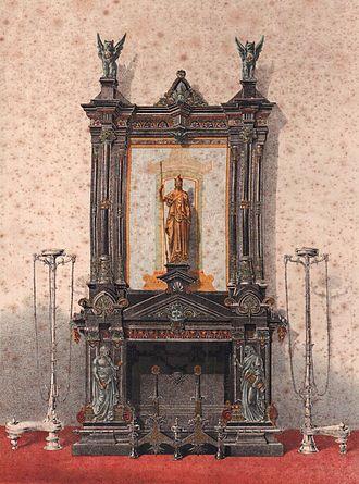 Neo-Grec - Image: Frédéric Eugène Piat Cheminée monumentale de style néo grec
