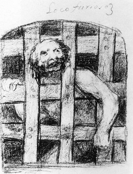 File:Francisco de Goya y Lucientes - A Lunatic behind Bars - WGA10170.jpg