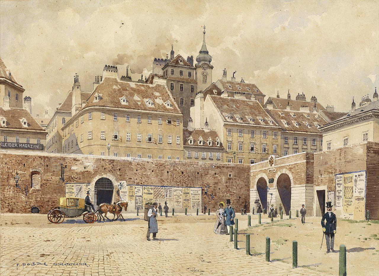 Franz Poldne Blick auf Wien vom Rotenthurmtor.jpg