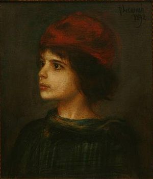 Katia Mann - Portrait of Katia Pringsheim as a child, Franz von Lenbach