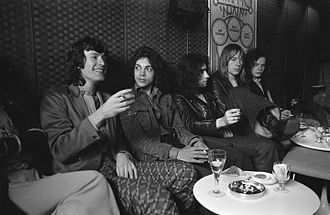 Free (band) - Steve Winwood and Free in Amsterdam, 1970. Left to right: Winwood, Fraser, Rodgers, Kirke and Kossoff