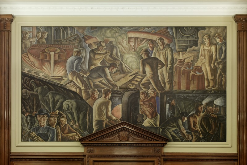 "File:Fresco ""Steel Industry"" at U.S. Courthouse and Post Office, Pittsburgh, Pennsylvania LCCN2010719934.tif"