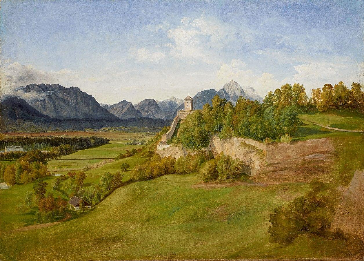 Der Mönchsberg in Salzburg mit dem Josefsturm