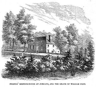 Квакерский дом собраний в деревне Джорданс в Букингемшире, где похоронен Уильям Пенн.