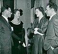 Fritz Albert Lipmann, Hans Krebs with wives 1953.jpg
