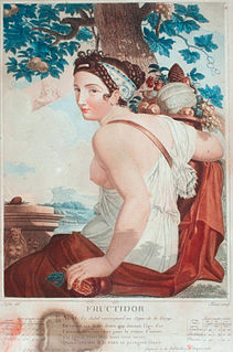 Fructidor month in the French Republican Calendar, from mid-August to mid-September
