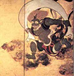 Risultati immagini per japanese wind god