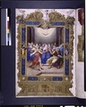 Full-page miniature of Pentecost. Elaborate full border with human figures (NYPL b12455533-1610042).tif