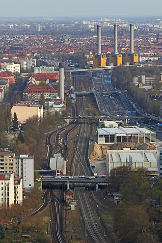Berlin Ringbahn - Ringbahn, as seen from Funkturm Berlin