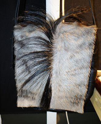 Black wildebeest - A bag made with wildebeest skin.