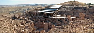 History of Mesopotamia - Overview of Göbekli Tepe with modern roof to protect the site against the weather